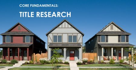 online courses- core fundamentals – title research